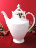 <SHELTONIAN>1950年代:優雅なお花たち♪素晴らしいシルエットのとても大きな陶器のティーポット