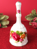 1960年代:「Cottage Rose」華やかな薔薇のお花たち♪金彩もきれいな陶器のベル