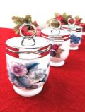 <ロイヤル・ウースター>英国カントリーサイドのお花たち♪分厚い陶器のエッグコドラー
