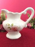<英国ビンテージ>1950年代:優しいバラのお花たち♪金彩もきれいな小ぶりなジャグ