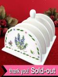 <Herb garden>愛らしいハーブたち♪ポーセリンのとても大きなトーストラック「お箱付」