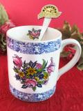 <RINGTONS>英国老舗紅茶メーカーリントンズ♪お花たちが華やかなマグカップ「ティースプーン&「お箱付」