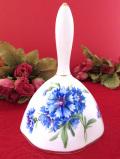 <ハマースレイ>青いコーンフラワーのお花たち♪金彩も優雅な陶器の大きなベル