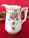 1930年代:英国のピンクのバラのお花たち♪アールデコデザインのフォルムが優雅な陶器のジャグ