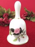 <ウェッジウッド>1956年:廃盤レア♪「HATHAWAY ROSE(ハザウェイ・ローズ)」のお花のようなポーセリンベル