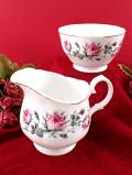 <MAYFAIR>愛らしいバラのつぼみたち♪優雅な大きなミルクジャグ&シュガーボウル「2点セット」
