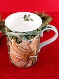 <ロイヤル・ウースター:デッドストック>レア♪ウィリアム・モリスデザイン♪お花たちが美しいマグカップ「お箱付」