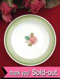 <廃盤超レア♪ スージー・クーパー>1938年:幻の名作「パトリシアローズ」♪大輪のピンクの薔薇が美しい小ぶりな絵皿「スタンド付」