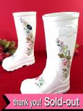 <エインズレイ>英国の愛らしいお花たち♪お花模様が楽しい長靴のフラワーベース