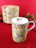 <ロイヤル・ウースター:デッドストック>レア♪ウィリアム・モリスデザイン「ゴールデンリリー」♪お花たちが美しいマグカップ「お箱付」