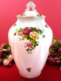 <ロイヤル・アルバート>オールドカントリーローズ♪美しいバラと22カラットゴールドのとても大きなジンジャーボウル