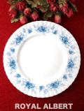 <ロイヤル・アルバート>「WINDSOR ROSE」♪英国王室の離宮ウインザー城の青いバラのディナープレート