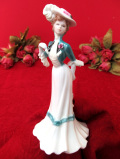 <COALPORT>「Lady Sarah」♪白いドレスがエレガントなヴィクトリアンレディの優雅なフィギュア