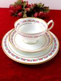 <ハマースレイ>ピンク色のバラの小花♪たっぷりとした金彩も美しいトリオ