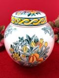 <MASON'S>「THE NATIONAL TRUST」♪たくさんのお花たちが咲いたアイアンストーンのジンジャーボウル