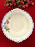 1940年代:優しいアスターのお花たち♪ぽったりとした陶器の英国アンティークの大きなボウル