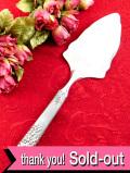 <英国銀器>立体的なブドウの模様の銀細工♪シルバープレートの豪華なケーキサーバー