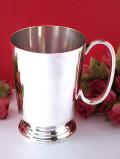 <英国銀器>1930年代:優雅な銀細工♪シルバープレートのとても大きなマグカップ