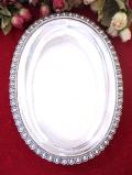 <英国銀器>1920年代:ヴィクトリアンデザイン♪全長33cm銀細工が美しい楕円形のとても大きな深皿