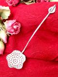 <英国銀器>1930年代:優雅な銀細工♪英国アンティークのシルバープレートのシフタースプーン