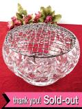 1940年代:レア♪クリスタルガラスが美しいとても大きなフラワーアレンジメントボウル