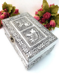 <英国銀器>1940年代:素晴らしい銀細工♪華やかなシルバープレートの宝石箱