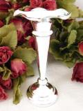 <英国銀器>1930年代:水仙のお花のよう♪シルバープレートの知的な美しさのフラワーベース