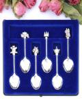 <英国銀器>1981年:「ROYAL WEDDING」♪銀細工が美しいロイヤル・ウェディングの豪華なティースプーンセット「6本&お箱付」