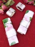 <英国ビンテージ>植物模様の銀細工が美しい♪シルバープレートのナプキンリング「4個セット」