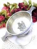 <スコットランド製>立体的なアザミのお花♪ピューターで作られたティスティングカップ