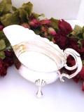 <英国銀器>1930年代:優雅なヴィクトリアンデザイン♪銀細工が素晴らしい猫足のソースボウル