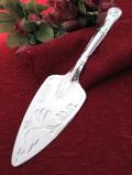 <英国銀器>1950年代:立体的な銀細工が優雅♪しっかりとしたシルバープレートのケーキサーバー