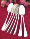 <英国銀器>1930年代:英国の伝統的なデザイン♪シルバープレートのテーブルスプーン「8本セット」