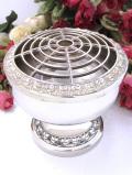 <英国銀器>1950年代:銀細工が美しいシルバープレートのとても大きなフラワーアレンジメントボウル