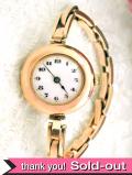 【365日保証付】<ROLEX>1920年代:貴重で珍しい女性用アンティークロレックスの9金無垢15石の機械式腕時計