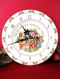 【30日間保証付】<ロイヤル・ドルトン>「バニキンズ」♪世界的に有名なウサギさんの絵皿の壁掛け時計