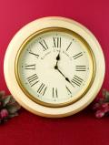 【30日間保証付】<Towcester Clock Works>クリーム色がカントリー♪とても大きな壁掛け時計