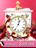 【30日間保証付】<MASON'S>「Mandalay Red」♪金彩も美しいアイアンストーンのとても大きな陶器の置時計