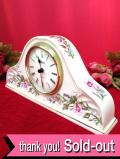 【30日間保証付】<エインズレイ>「WILD TUDOR♪満開のお花たちが素晴らしい大きな陶器の置時計