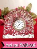 <WATERFORD>水晶細工のようなガラス細工♪クリスタルガラスが美しい置き時計