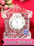 <30日間保証:スコットランド>「EDINBURGH CRYSTAL」氷細工のような美しいクリスタルガラスの光の置時計