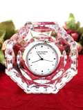 <DARTINGTON CRYSTAL>氷細工のような美しいクリスタルガラスの八角形の光の置時計