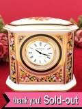 【30日間保証付】<ウェッジウッド>豪華な金彩とお花たち♪「CLIO」の素晴らしく美しい陶器の置時計