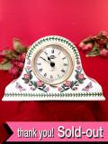 【30日間保証付】<ポートメリオン>「BOTANIC GARDEN」♪美しいボタニカルアートのお花たちが素晴らしい大きな陶器の置時計