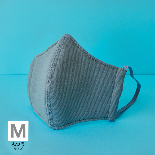 国産布マスク M グレー