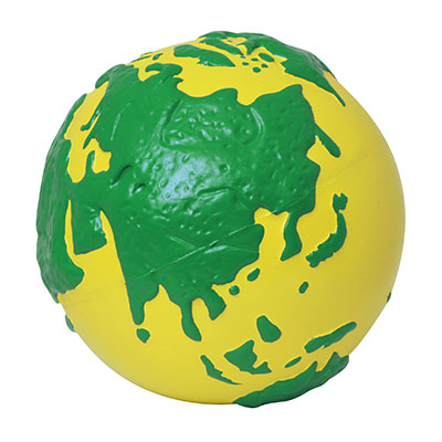 Earth Squeeze Ball YELLOW