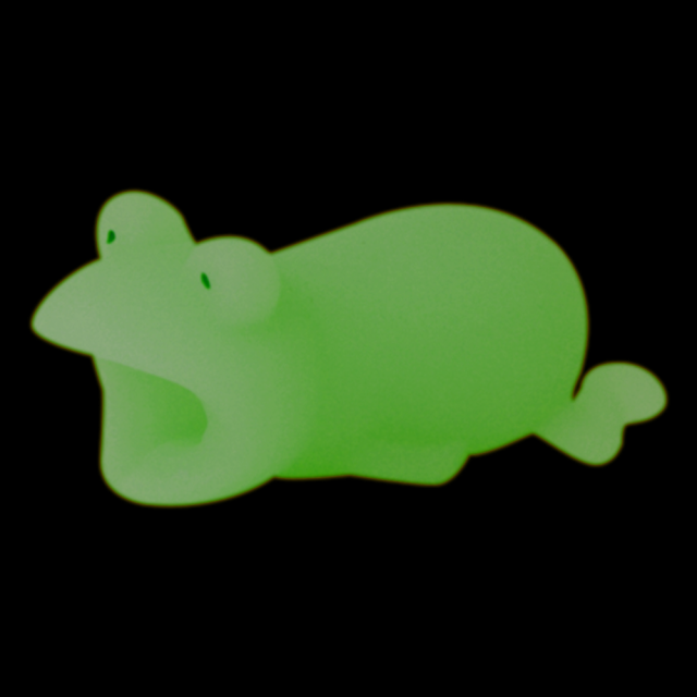 蓄光カエル