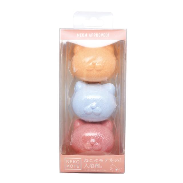 【ネコにモテる入浴剤!?】NEKOMOTE Bathball Gift Box ネコモテバスボール ギフトボックス