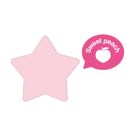 Rainbomb Star Sweet Peach (Pink)