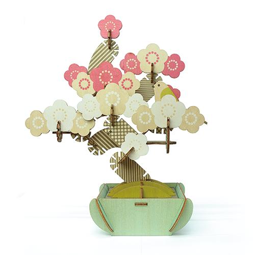 【組み合わせ無限大のウッドパズル】PLAY PLANTS BONSAI PUZZLE JAPANESE APRICOT プレイプランツ 盆栽パズル 梅